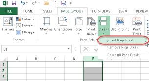 working with page breaks in excel u0026 vba