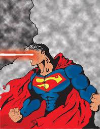 superman heat vision colour dfs art deviantart