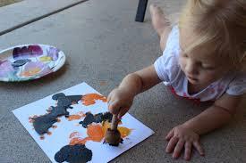 messy toddler halloween crafts u2013 taush o