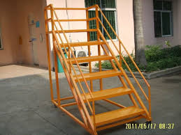 steel movable ladder on wheels buy movable ladder steel round