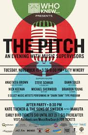 who knew presents the pitch an evening with music supervisors