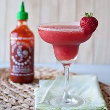 strawberry sriracha margarita sweet with the perfect kick of spice