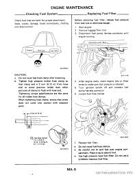 nissan 300zx 1984 z31 maintenance workshop manual