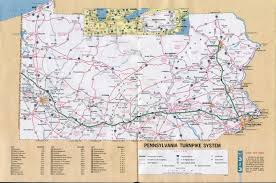 Road Map Of Canada by 1970 U0027s Pennsylvania State Road Maps