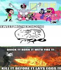 Teen Titans Memes - my reaction to teen titans go by asaylum117 on deviantart