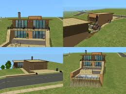 level house mod the sims simple and modern multi level house