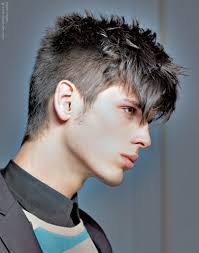mens hair feathery feathery short hair with cropped sides for men
