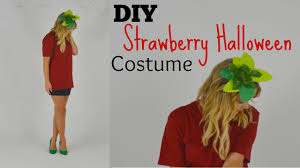 How To Make Your Own Halloween Costume by Last Minute Diy Halloween Strawberry Costume Youtube