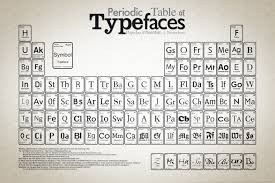 Best Resume Font Reddit by Periodic Table Of Typefaces