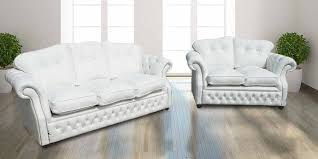 Chesterfield White Leather Sofa Buy White Chesterfield Sofa Suite At Designersofas4u