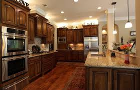 cherry kitchen island contemporary kitchen with tile undermount sink in houston