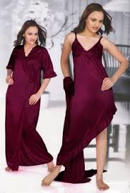 details about ladies long satin and lace dressing gown robe womens