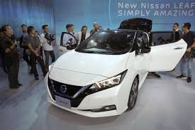 nissan leaf new range nissan shows leaf electric car revamped with more range houston tx