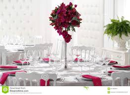 table centerpieces for wedding table flower decoration at a wedding royalty free stock image