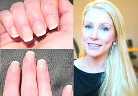 easy 5 minute french manicure at home youtube