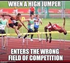 Track And Field Memes - track and field confusion when a high jumper enters the wrong