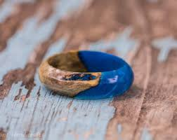 fusion wedding band rainbow acrylic wood fusion ring yellow green blue