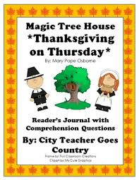 thanksgiving on thursday magic tree house 27 journal