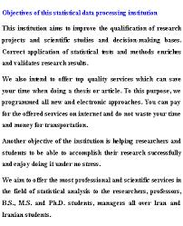 statistical analysis statistics etminan shargh