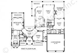 First Floor House Plan Cabo Residential House Plans Luxury House Plans