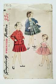 cute jacket pattern 1950s girls dress pattern simplicity 1335 cute jumper dress