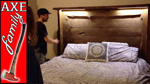 diy headboard with led lights building a custom headboard with led lights youtube