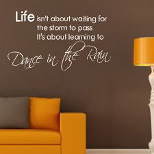 dance in the rain quote wall stickers quotes wall decals dance in the rain quote wall stickers