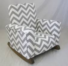 Upholstered Rocking Chairs New Childrens Upholstered Rocking Chair Zig Zag Chevron Gray