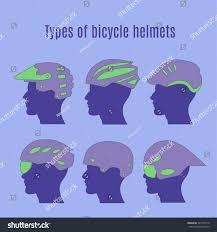 types of purple types bicycle helmets stock vector 745199110 shutterstock