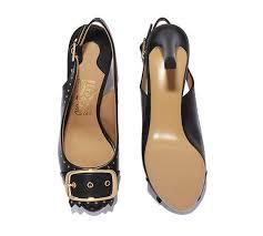 salvatore ferragamo for ornament buckle slingback sandal