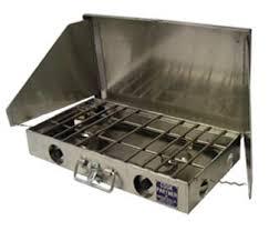 Two Burner Gas Cooktop Propane Partner Steel 22