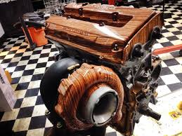 custom wood valve and turbo cover is pretty awesome autoevolution