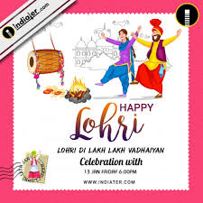 lohri invitation cards happy lohri invitation postcard greetings design psd template
