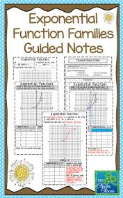 exponential functions guided notes students note and math