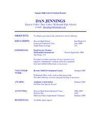Objective For Resume For Teacher Bartender Objectives Resume Will High Graduate Objective
