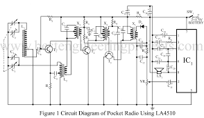 pocket radio using la4510 and three transistors best engineering