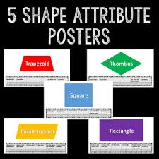 grade geometry quadrilaterals posters math worksheets common core