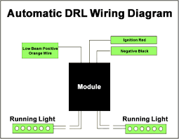 daytime running lights drl auto start wiring kit switch relay