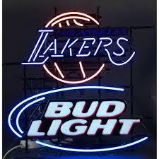 bud light neon light bud light la lakers neon sign