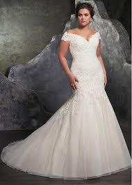 discount plus size wedding dresses buy discount fantastic tulle the shoulder neckline mermaid