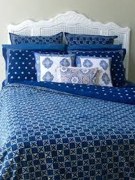 designer blue batik contemporary bedding twin size duvet cover