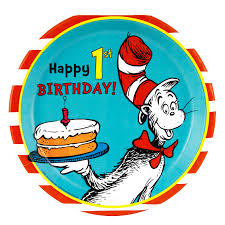 dr seuss 1st birthday dinner plates birthdayexpress com