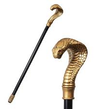 cobra headed gothic walking stick 37 1 2 inch cane egyptian cobra headed walking stick cane at gothic plus gothic clothing jewelry goth shoes