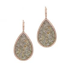gold teardrop earrings chagne diamond earrings designer earrings new york city