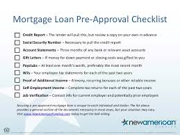 5 things you need to be pre approved for a mortgage loan new americ u2026
