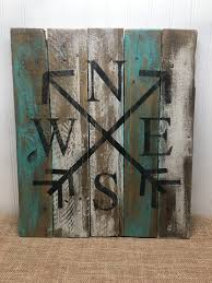 wood compass wall rustic pallet wall compass pallet sign wood wall sign