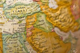 Syria On A World Map by Syria On Antiqued Globe Stock Photo Picture And Royalty Free