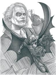 drawn batman batman joker pencil and in color drawn batman