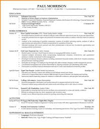 college student resume sles for summer jobs resume templates for interns resumes internships exles exle
