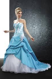 robe de mari e bicolore pia benelli prestige pensee turquoise sur le site du mariage